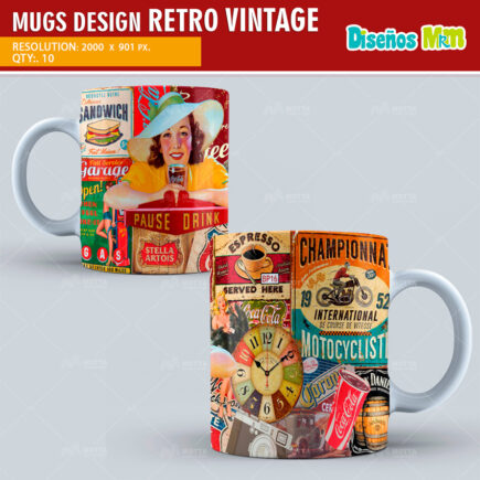 DESIGN SUBLIMATION MUGS VINTAGE
