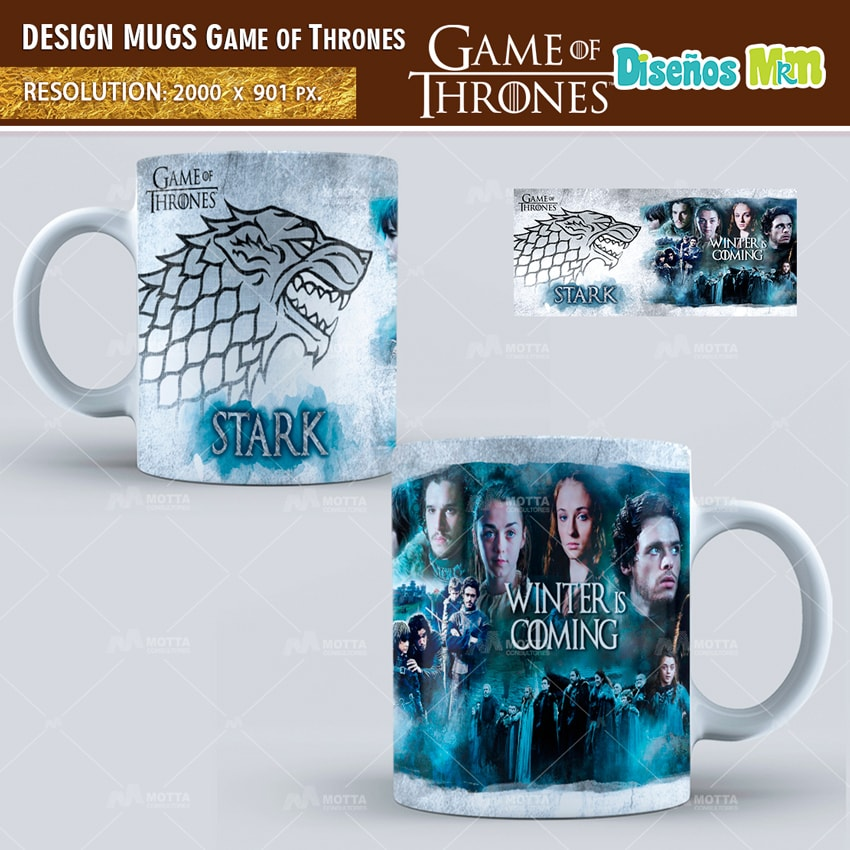 GAMES OF THRONES | DESIGN FOR SUBLIMATION THE MUGS