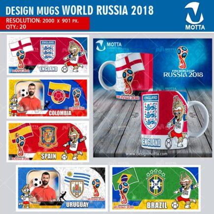 DESIGNS TO SUBLIMATE MUG FIFA WORLD RUSSIA 2018