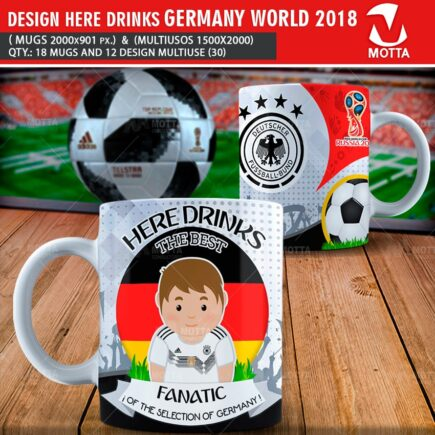 DESIGN OF MUGS THE BEST FANATIC OF GERMANY IN RUSSIA 2018