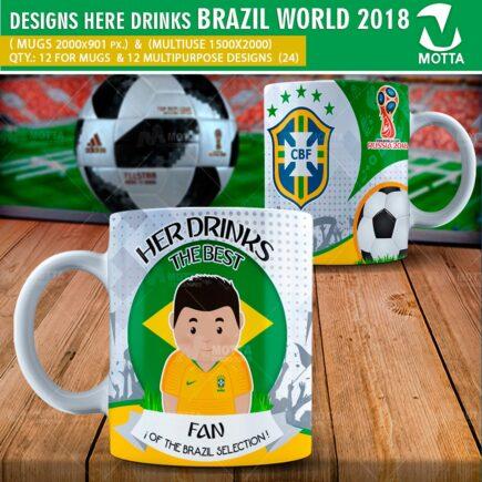 DESIGNS THE BEST FAN OF BRAZIL IN RUSSIA 2018