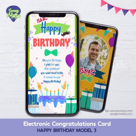 Electronic Congratulations Card Happy Birthday 3