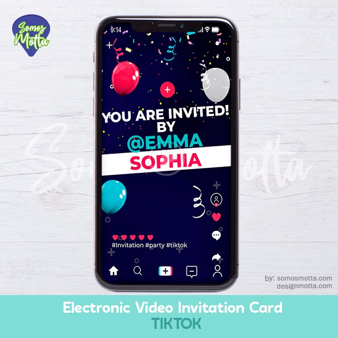 Electronic Video Card Invitation TikTok Tiktokers