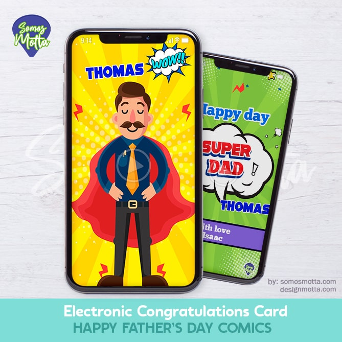 Electronic Congratulations Card Happy Fathers Day