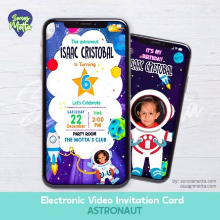 Electronic Video Card Invitation astronaut